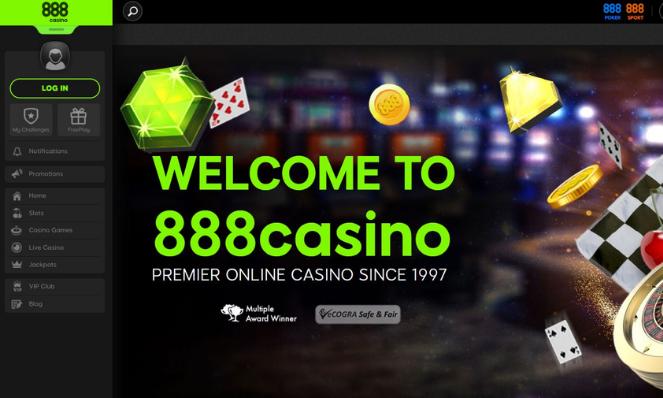 casino lobby 888 UK
