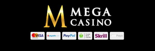 payment info mega casino UK