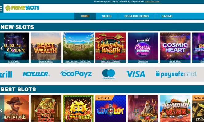 casino lobby primeslots uk