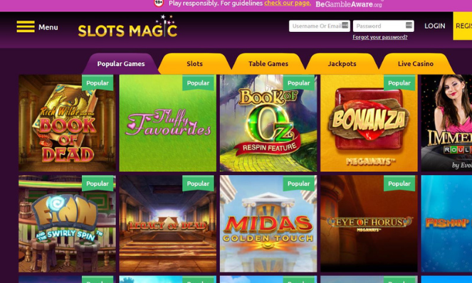 casino lobby slots magic uk