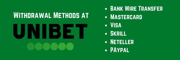 withdrawal methods at unibet casino