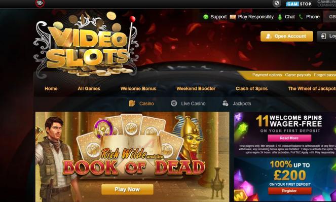 casino lobby videoslots